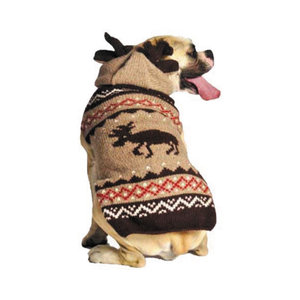 Chilly Dog Sweater Moosey Hoodie Medium 19-21in