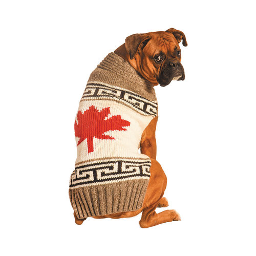 Chilly Dog Sweater Maple Leaf