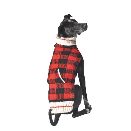 Chilly Dog Sweater Buffalo Plaid
