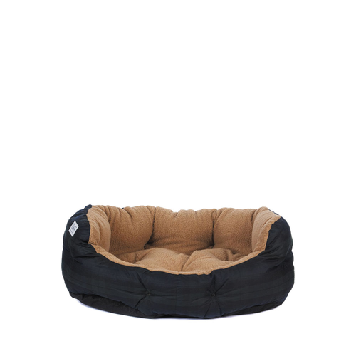 Barbour Bed Waxed Cotton Navy Tartan