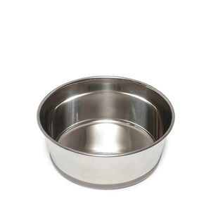 Messy Mutts Dog Stainless/Rubber Bowl