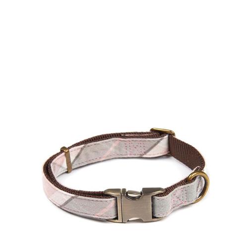 Barbour Collar Cotton Pink Tartan