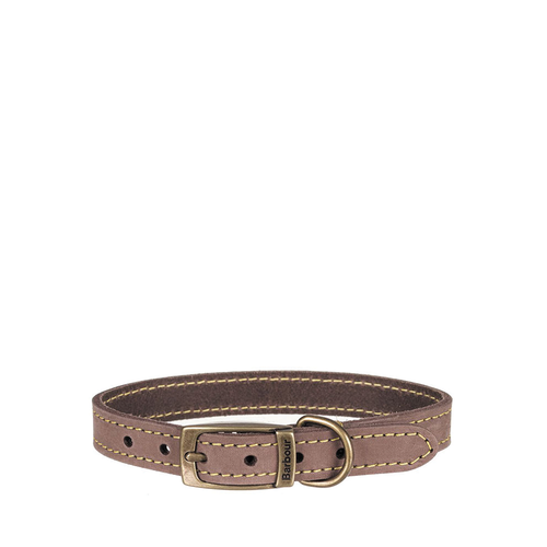 Barbour Collar Leather Brown