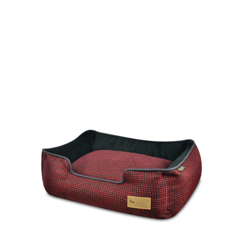 PLAY Lounge Bed Houndstooth Red