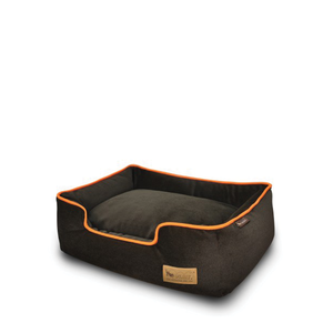 PLAY Lounge Bed Plush Brown/Orange
