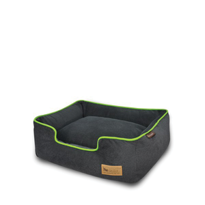 PLAY Lounge Bed Plush Gray/Lime