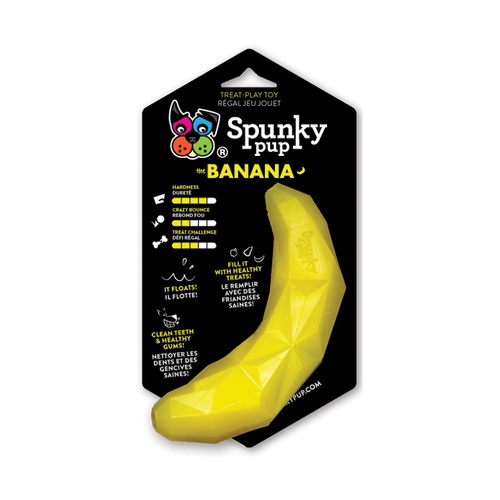 Spunky Pup Banana Rubber Toy