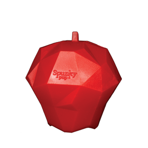 Spunky Pup Apple Rubber Toy