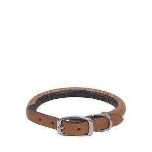 Coastal Pet Collar Leather Round Tan