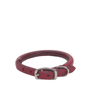 Coastal Pet Collar Leather Round Red
