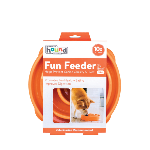 Outward Hound Slow Feeder Orange Mini