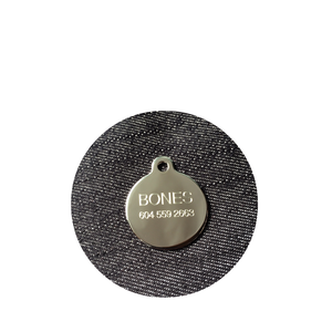 Custom engraved stainless pet tag