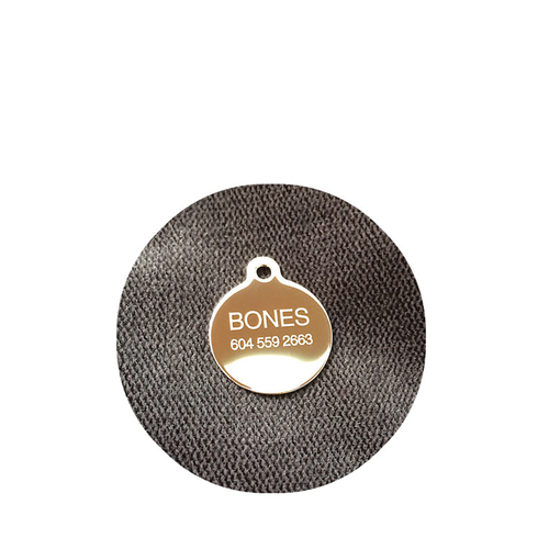 Bones Custom engraved stainless pet tag