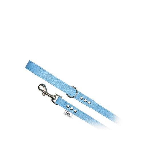 Buddy Belts All Leather Leash Blue