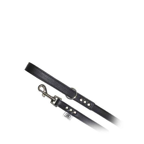 Buddy Belts All Leather Leash Black