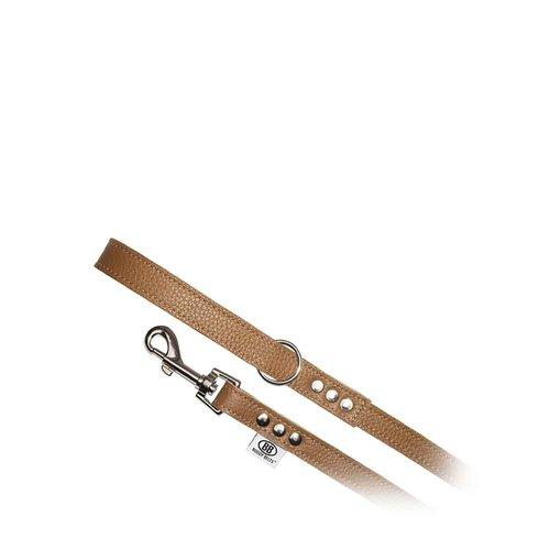 Buddy Belts All Leather Leash Caramel