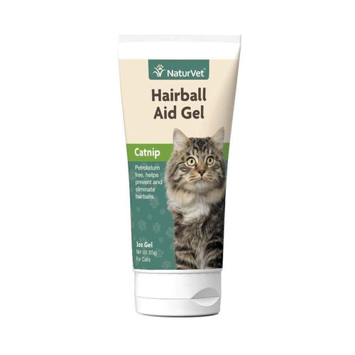 NaturVet Cat Natural Hairball Aid With Catnip Gel 3oz