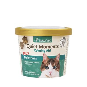 NaturVet Cat Quiet Moments/Melatonin 60ct
