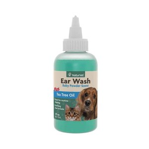 NaturVet Dog/Cat Ear Wash with Tea tree Oil 4oz