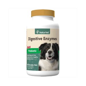 NaturVet Dog Digestive Enzymes/Probiotic 60ct