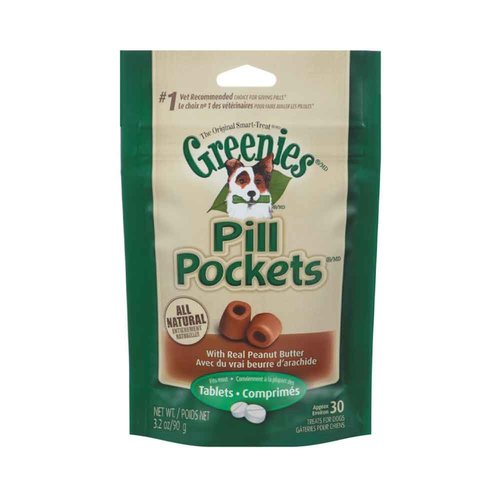 Other Greenies Dog Pill Pocket Peanut Butter Tablets 3.2oz