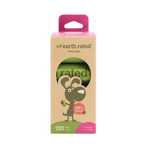 Earth Rated 120 Bags Poop Bags, 8 Rolls
