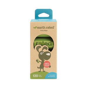 Earth Rated 120 Bags Unscented Poop Bags, 8 Rolls
