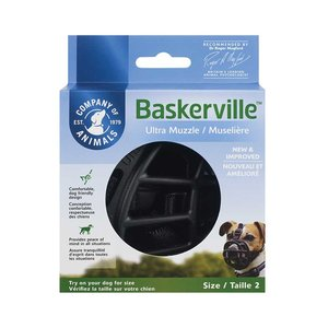 The Company of Animals Baskerville Ultra Muzzle Black
