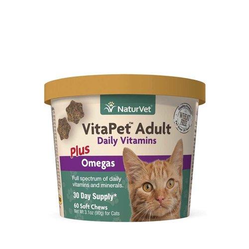 NaturVet Cat Vitamins and Omega 60ct