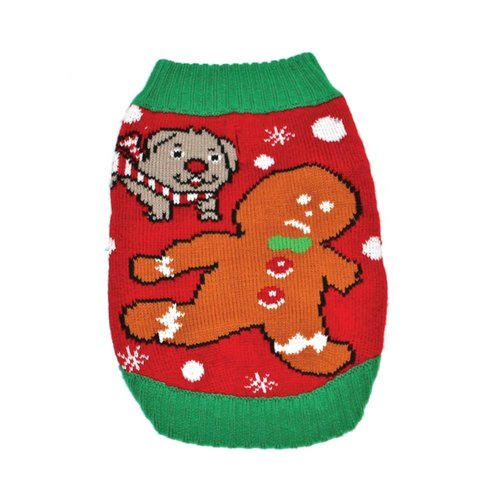 Funky Tails Christmas Sweater Dog Time For Treats