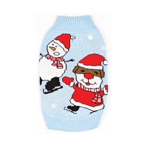 Funky Tails Christmas Sweater Dog Wobbly Snowman