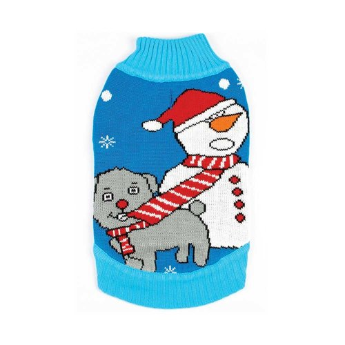Funky Tails Christmas Sweater Dog Tug O War