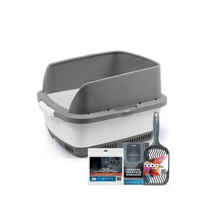 Other Cateco Cat Litter Box Kit Gray