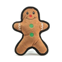 Patchwork Christmas Toy Flat Gingerbread Man
