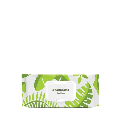 Earth Rated Compostable Pet Wipes Unscented 100pk
