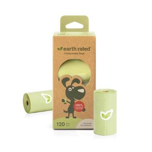 Earth Rated 120 Compostable Poop Bags, 8 Rolls