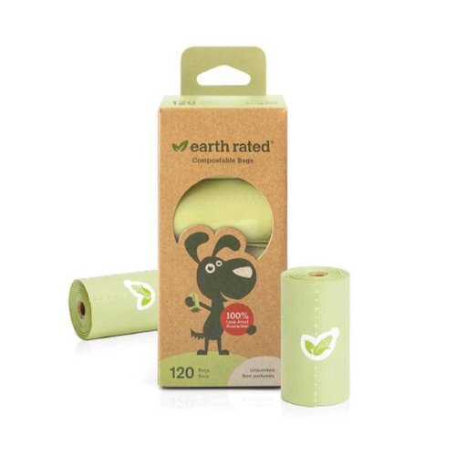 Earth Rated Earth Rated 120 Compostable Poop Bags, 8 Rolls