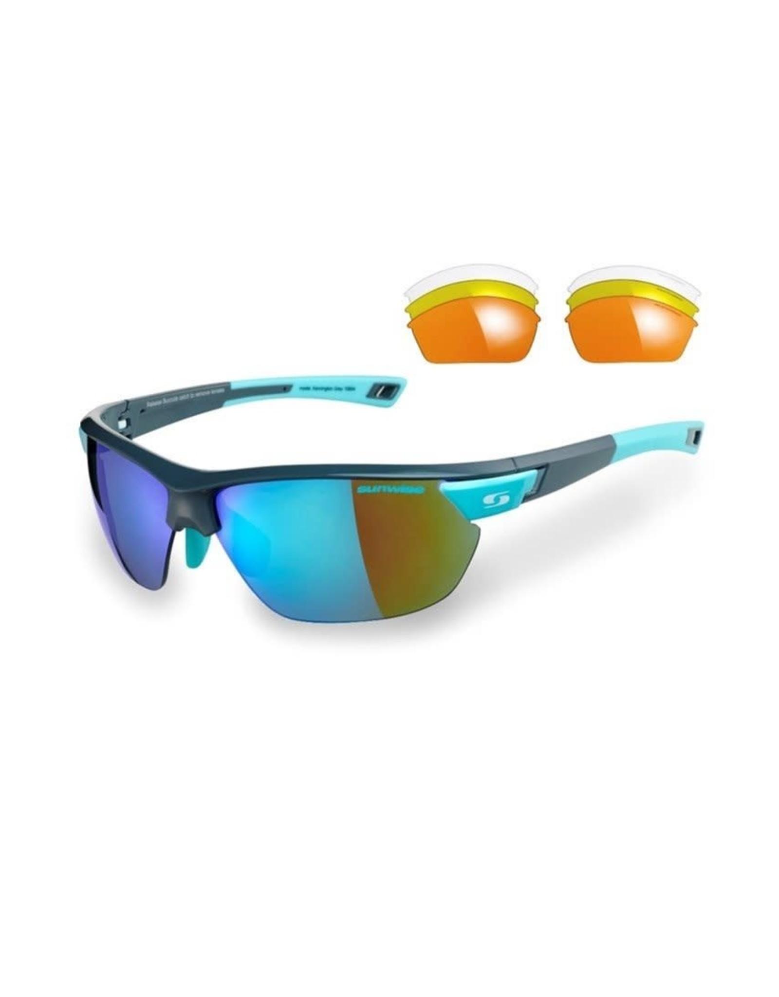 Sunwise Kennington Sunglasses Grey/Blue