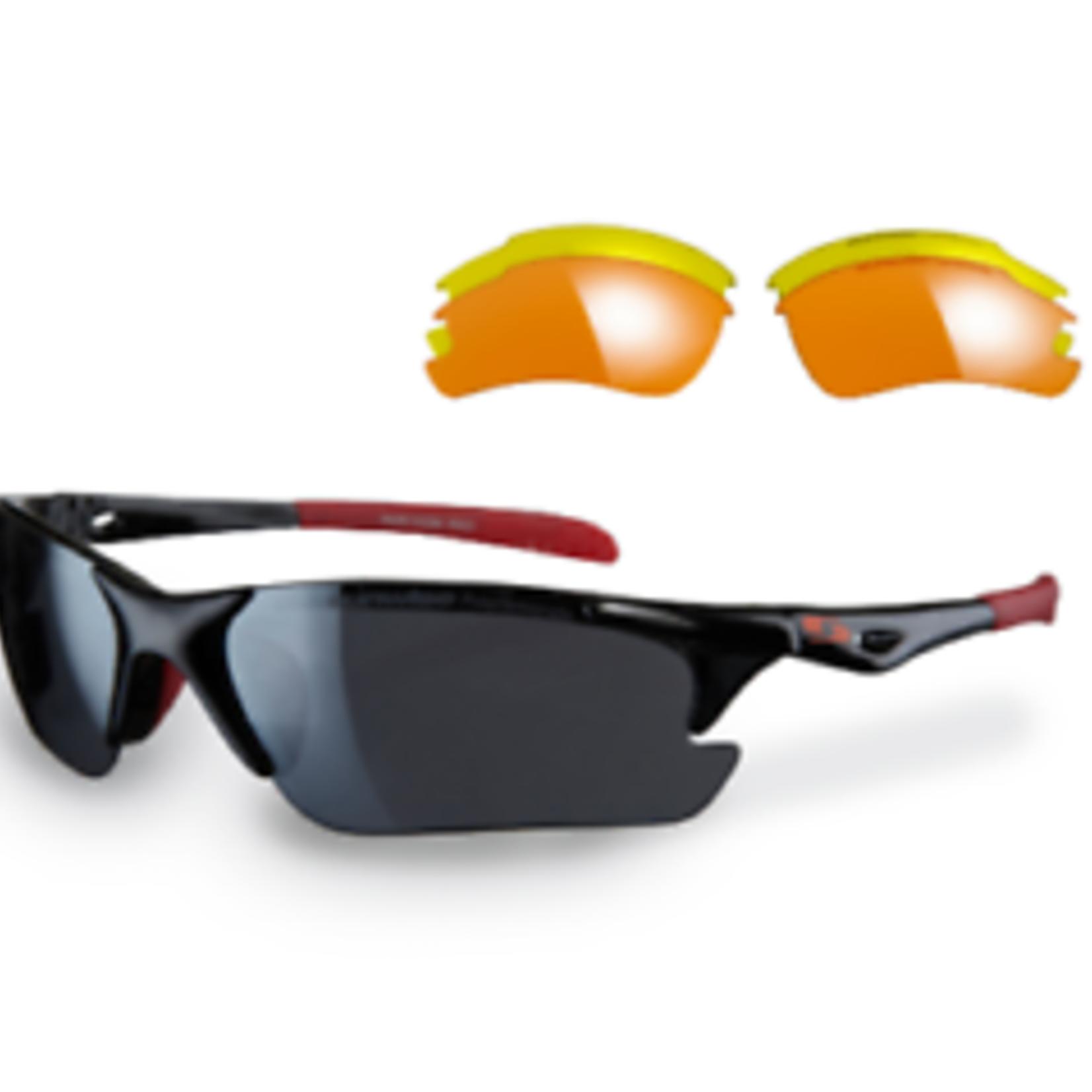 Sunwise Twister Sunglasses Black/Red
