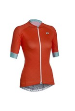 SOLO Solo Omni Woman Cycling Jersey Orange/Teal