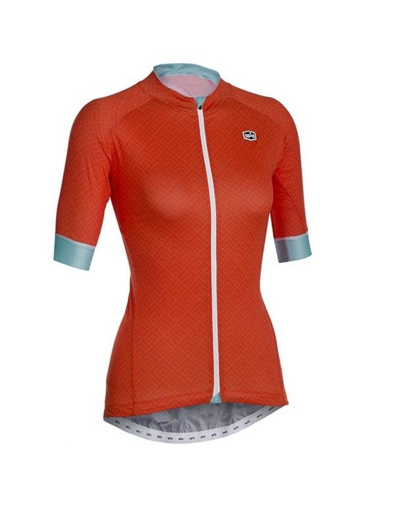 SOLO Solo Omni Woman Cycling Jersey Orange/Teal