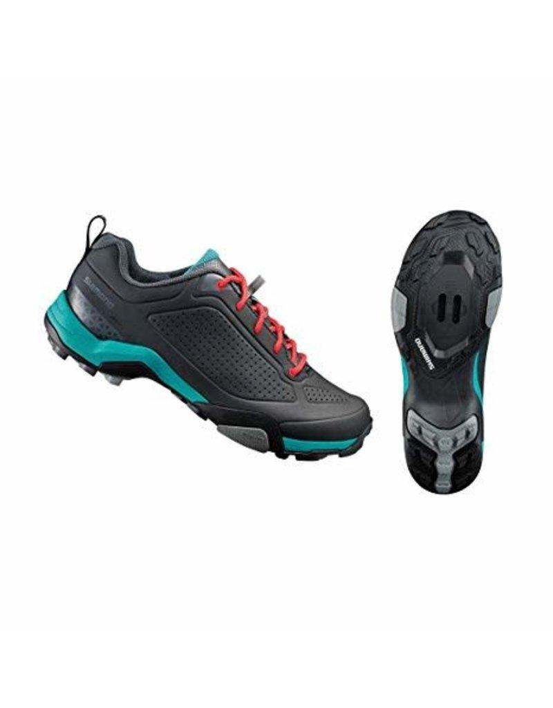 Shimano MT300 Womans MTB Shoe Black/Green