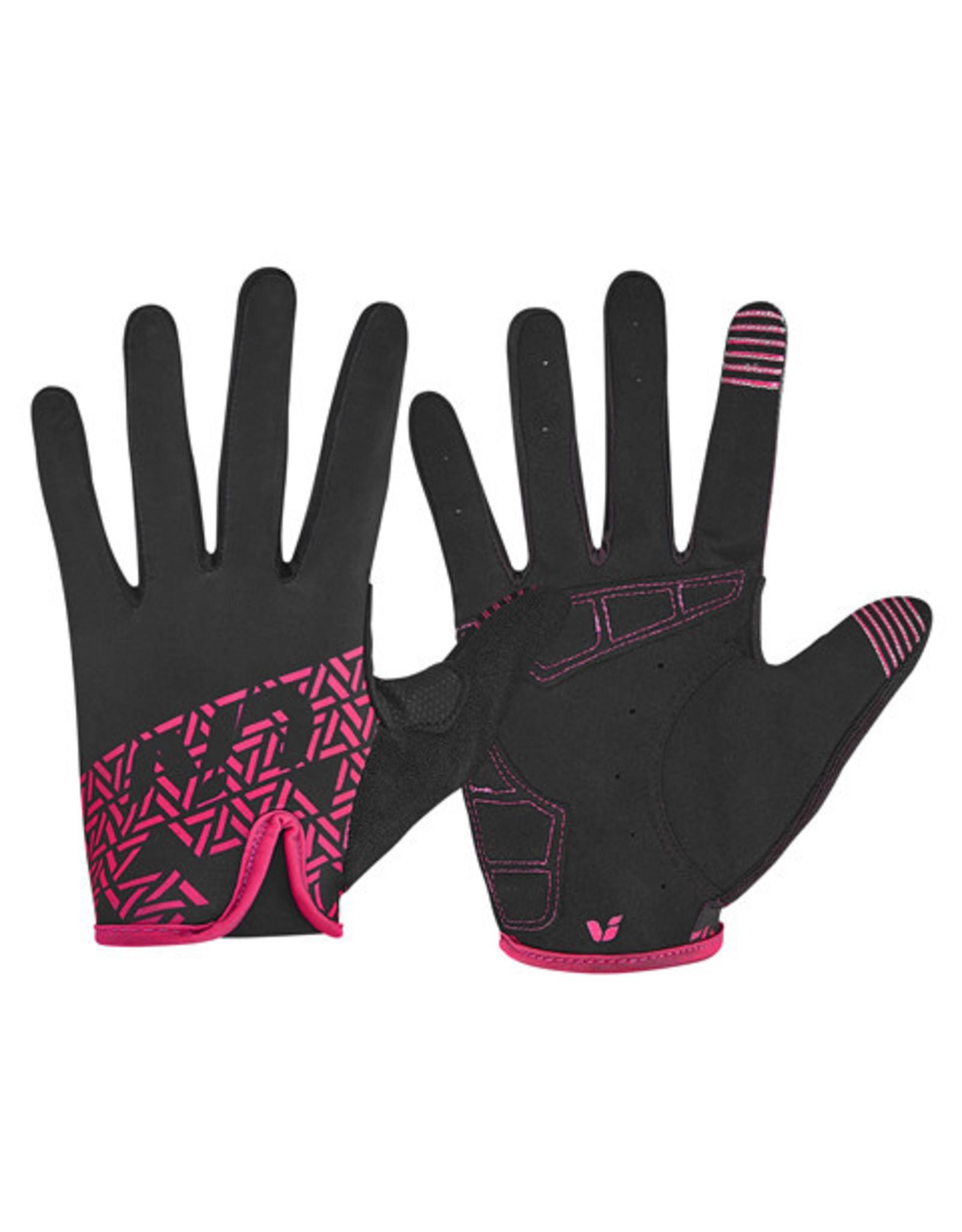 LIV Liv Energize Long Finger Glove Black/Red