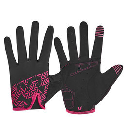 LIV Liv Energize Long Finger Glove Black/Red