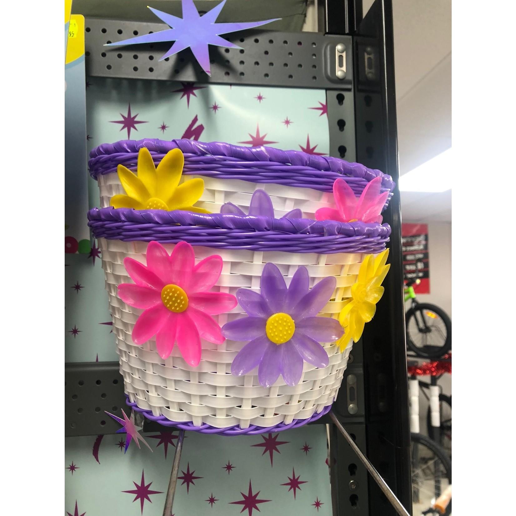 Bikes Up Kids Bicycle Basket White/Purple