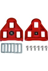 Wellgo Replacement Delta Cleats Red 9Deg