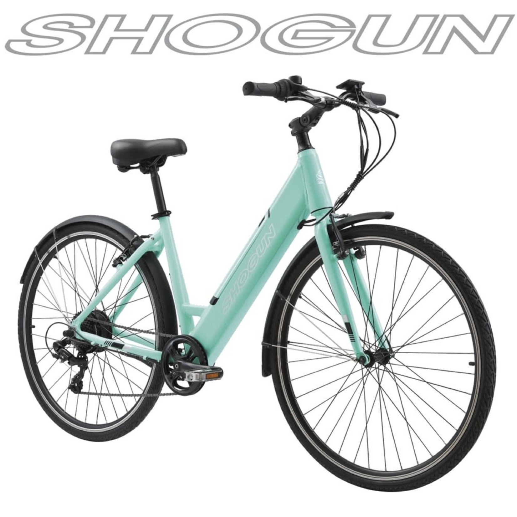Shogun Shogun EB1 Step Through E-Bike Aqua