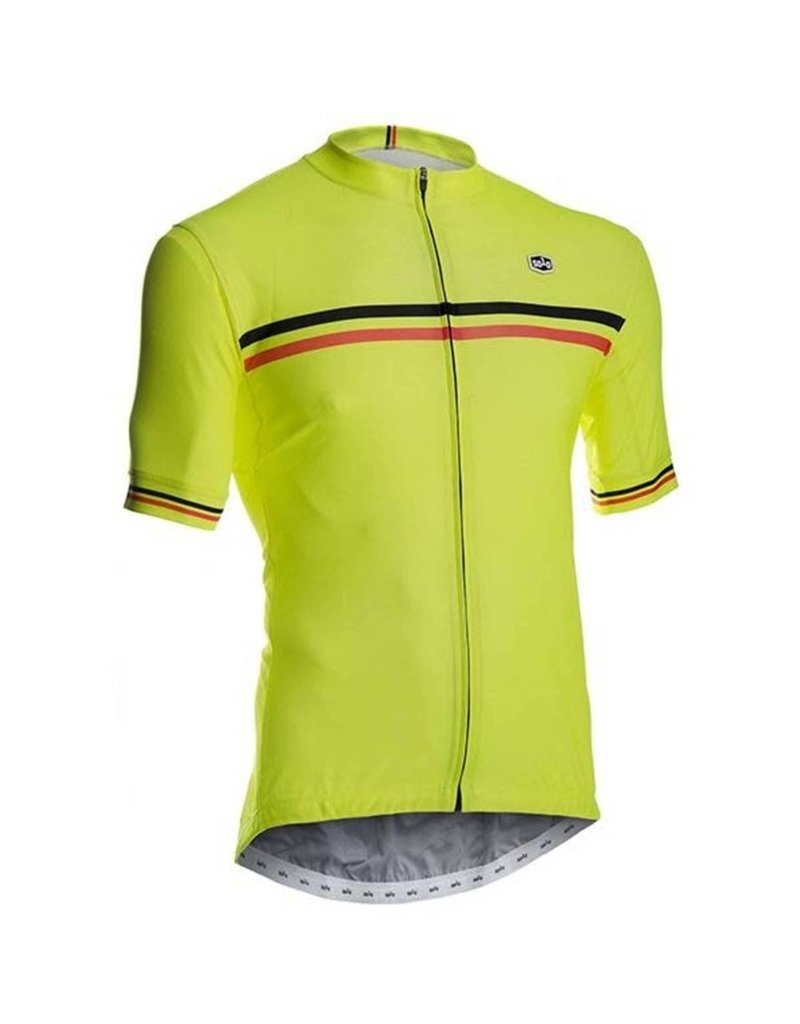 SOLO Solo Duo Mens Cycling Jersey Yellow