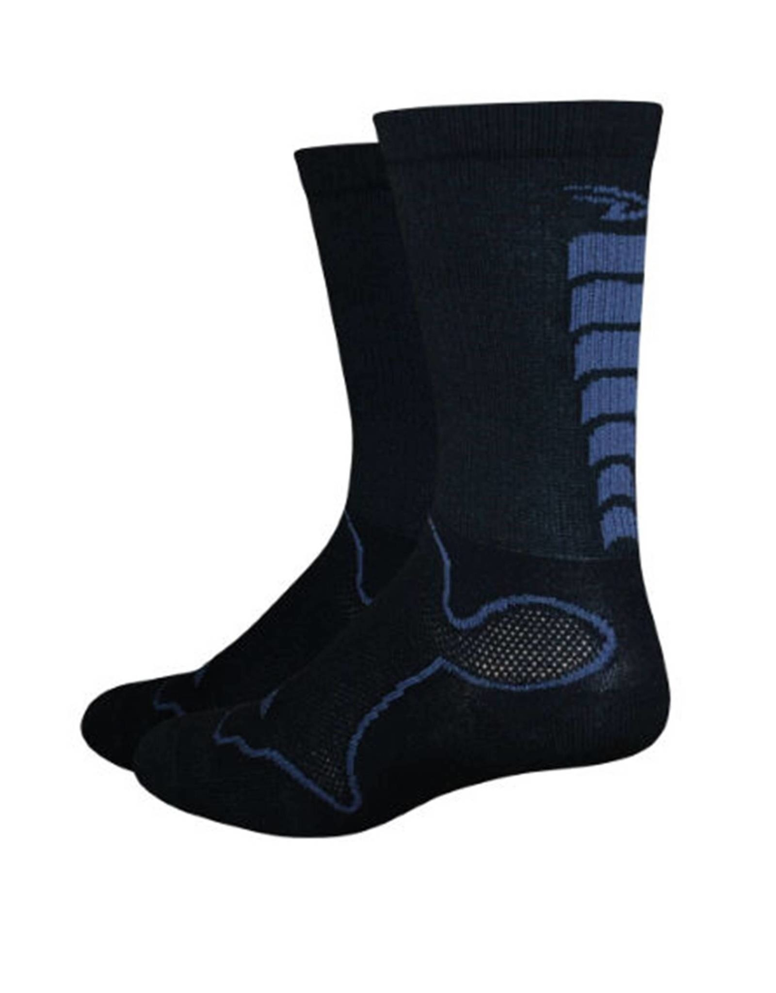 DeFeet Levitator Trail Sock Black/Grey XL