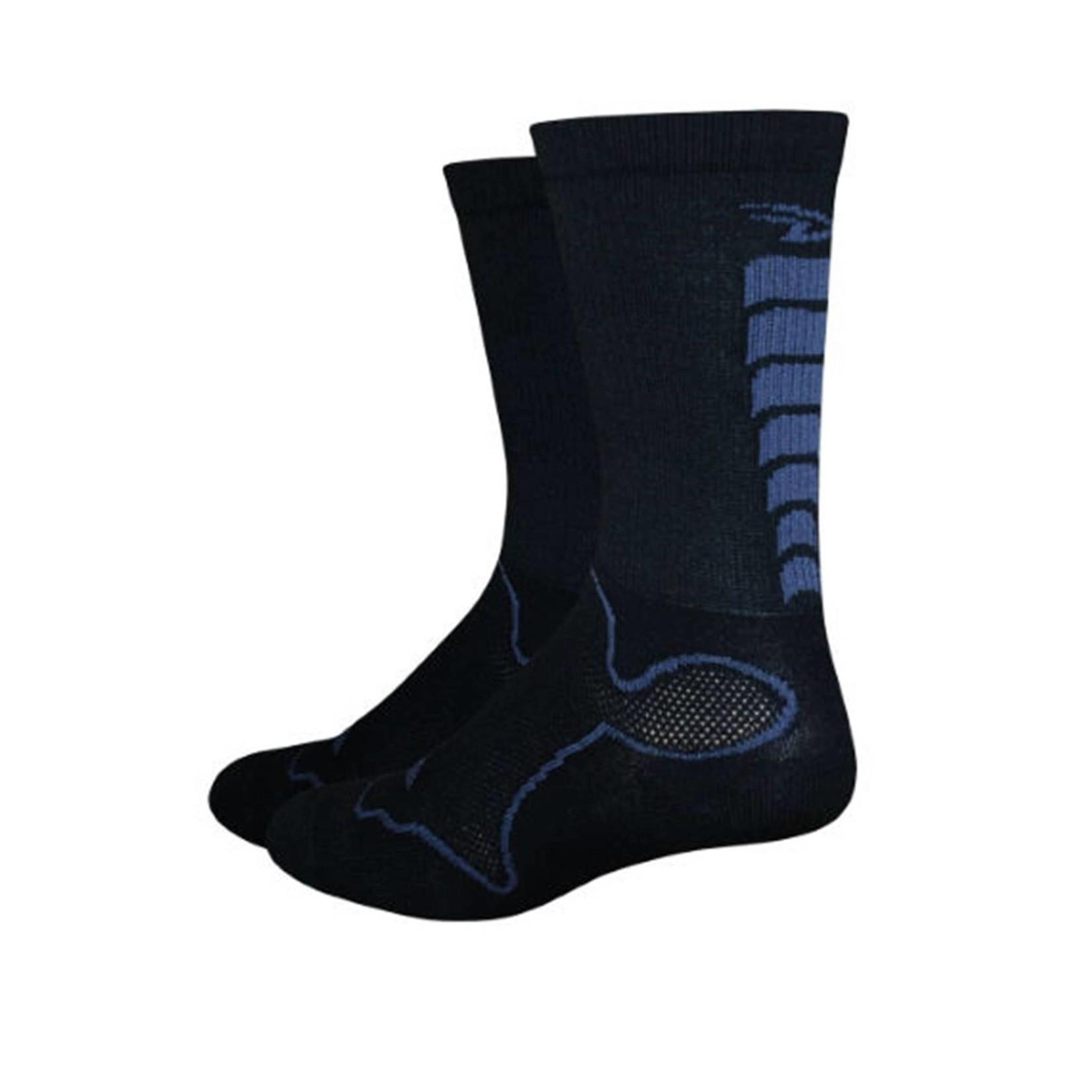DeFeet Levitator Trail Sock Black/Grey XL